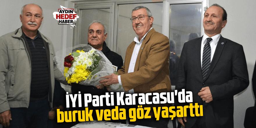 İYİ Parti Karacasu'da buruk veda göz yaşarttı