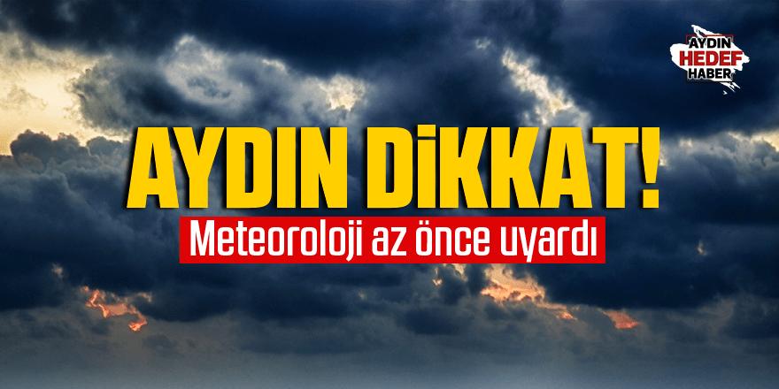 Aydın'a fırtına ve yağış