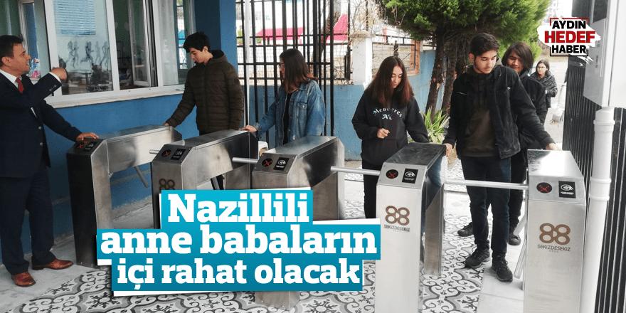 Nazilli Menderes Anadolu Lisesi velileri rahatlatan uygulama