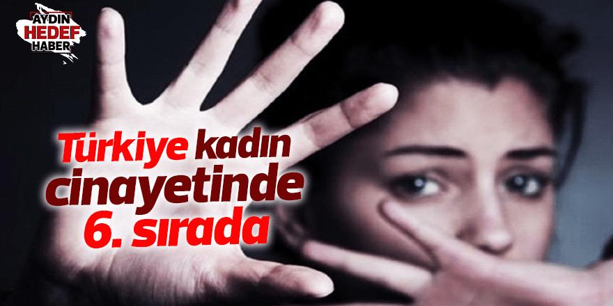 Türkiye kadın cinayetinde 6. sırada