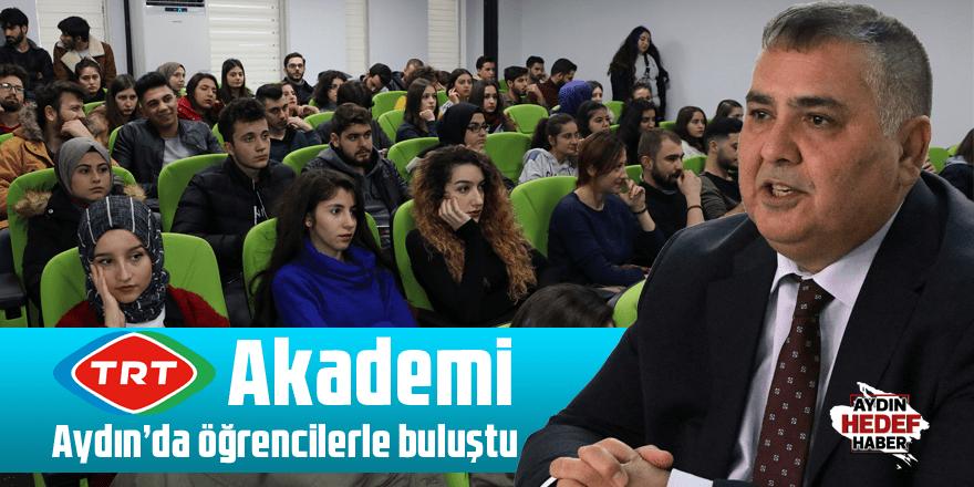 TRT Akademi Aydın'da öğrencilerle buluştu