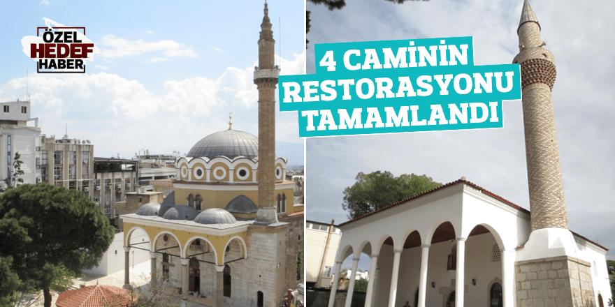 4 caminin restorasyonu tamamlandı