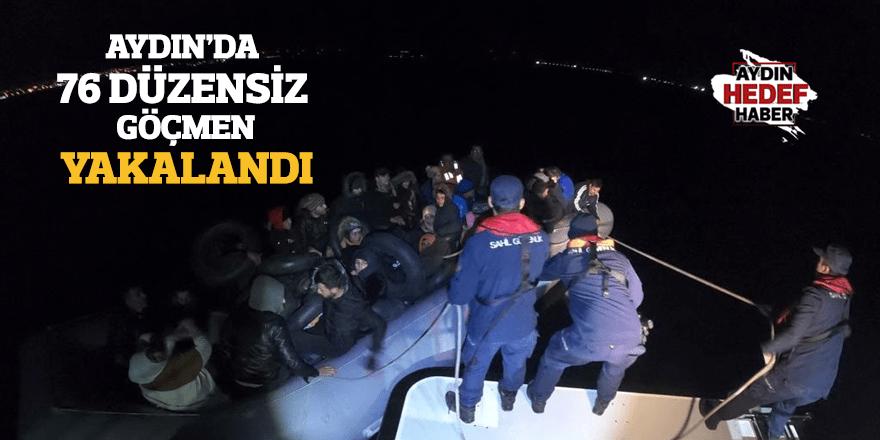 Aydın'da 76 düzensiz göçmen yakalandı