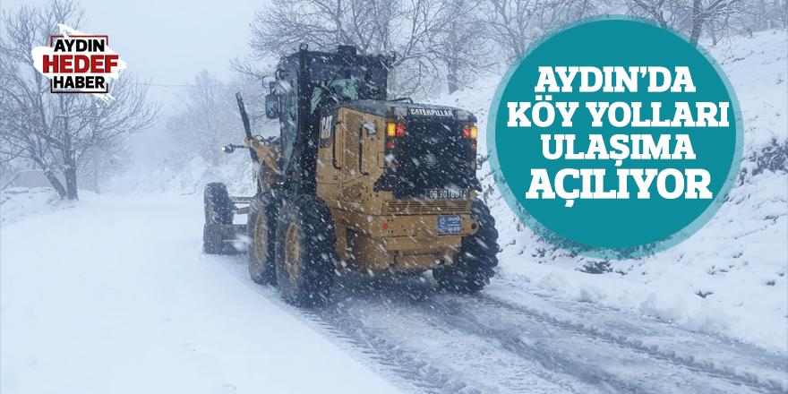 Aydın'da köy yolları ulaşıma açılıyor