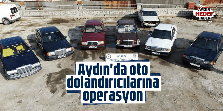Aydın'da oto dolandırıcılarına operasyon