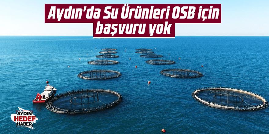 Didim'de Su Ürünleri OSB için başvuru yok