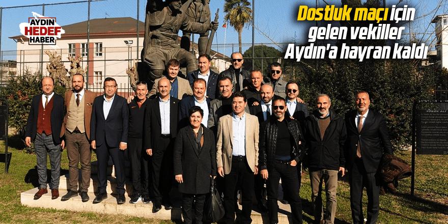 Dostluk maçı için gelen vekiller, Aydın'a hayran kaldı