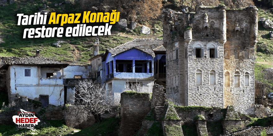 Tarihi Arpaz Konağı restore edilecek