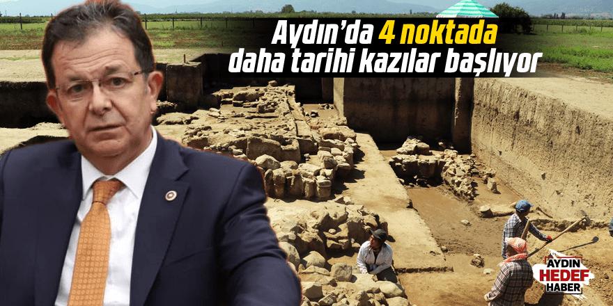 Aydın'da 4 noktada daha tarihi kazılar başlıyor