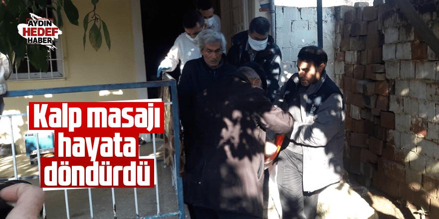 Aydın'da kalp masajı hayata döndürdü