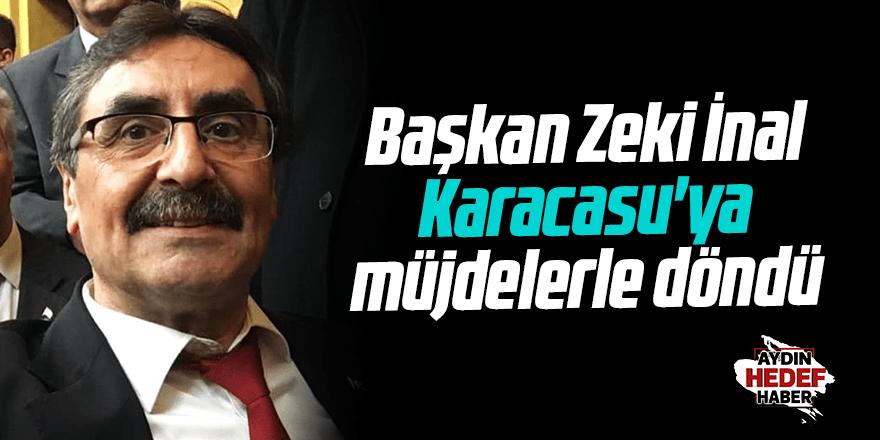 Karacasu'ya müjdelerle döndü