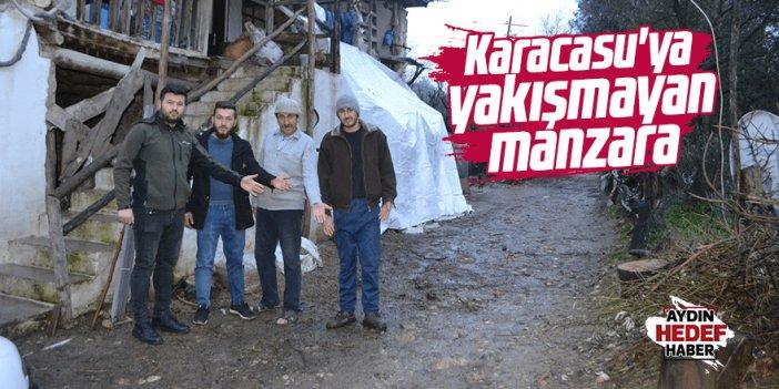 Karacasu'ya yakışmayan manzara