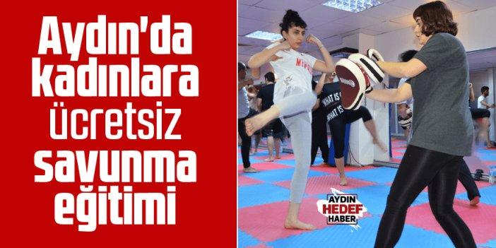 Aydın'da kadınlara ücretsiz savunma sporları eğitimi
