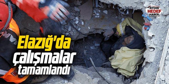 Elazığ'da arama kurtarma çalışmaları bitti