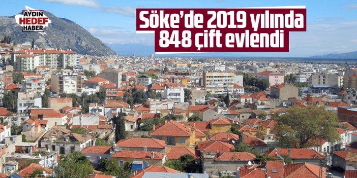 Söke'de 2019 yılında 848 çift evlendi