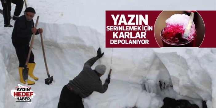 Madran'da karlar depolanmaya başlayacak