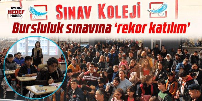 Nazilli Sınav Koleji'nin bursluluk sınavına 'rekor katılım'