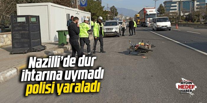 Nazilli'de polis memuru yaralandı